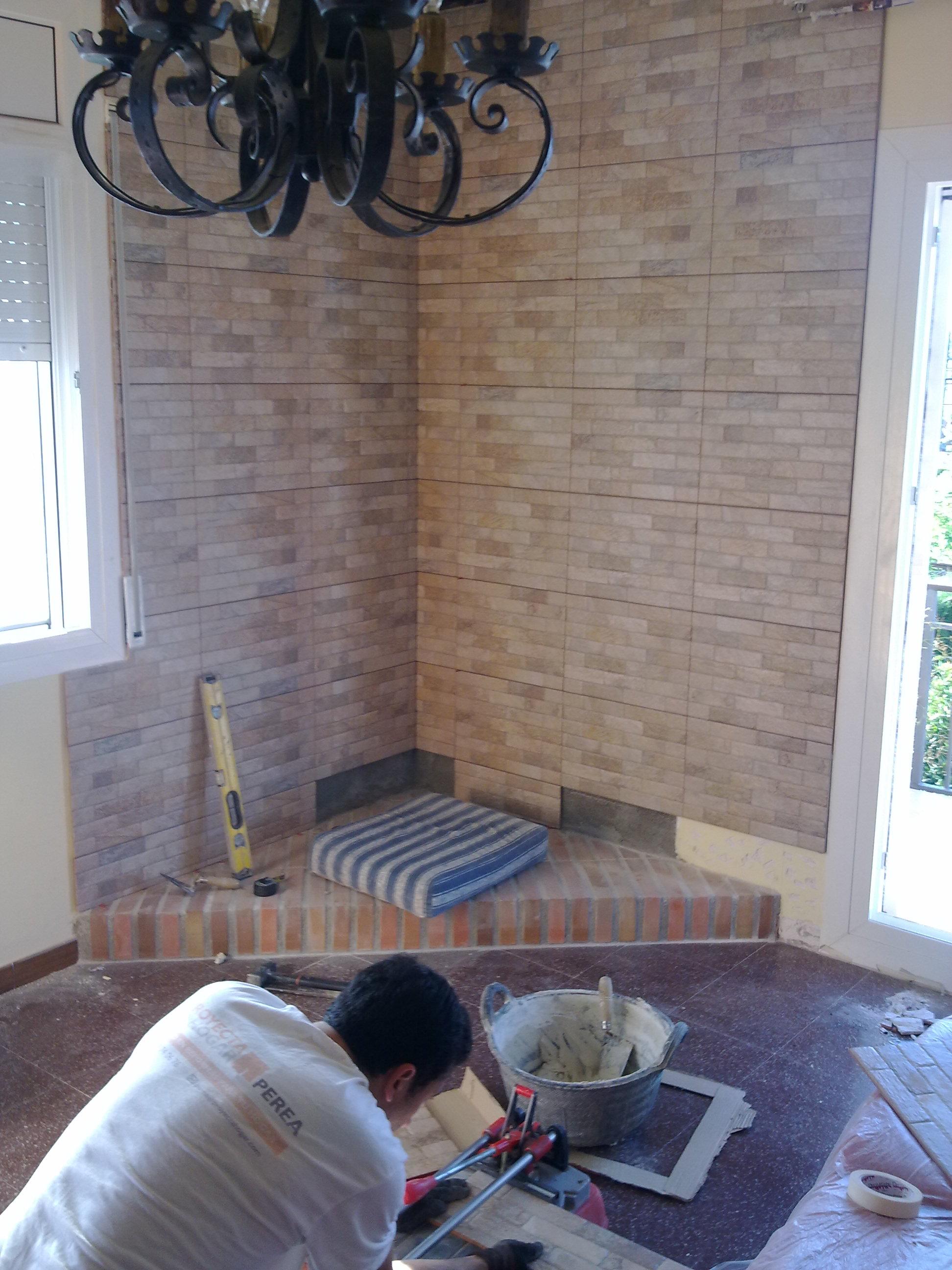 Reforma de chimenea en el maset proyecta hogar - Chimeneas de esquina modernas ...