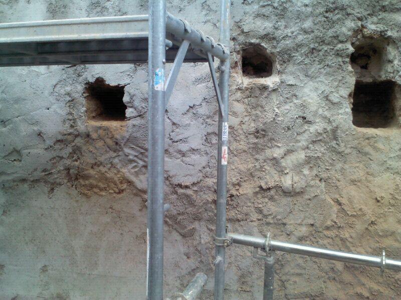 Reparación de Fachada Medianera en Piera
